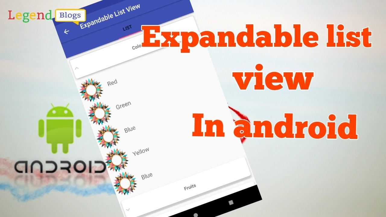 Expandable list view in android example